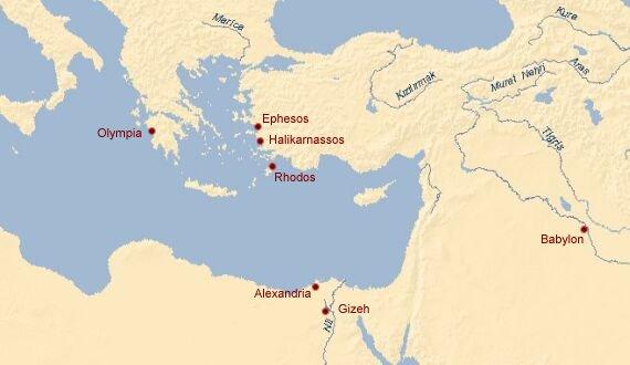 Babylon Karte.Rdm Die Sieben Weltwunder Der Antike